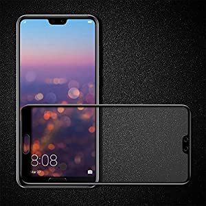 HUAWEI P20 PRO Helix 5D 9H premium Full GLUE Tempered Glass Full Screen Coverage Anti-Scratch Protective Film Edge to Edge Tempered Glass for HUAWEI P20 PRO - BLACK