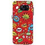 Comic-Aktionen Rot Wham Wow Boom Ouch Hartschalenhülle Telefonhülle zum Aufstecken für Samsung Galaxy S7 Edge (G935F, 2016 Version)