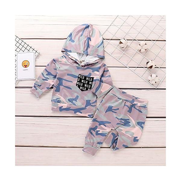 Trisee Ropa Bebe Niño otoño Invierno Trajes de Recién Nacido Camuflaje Manga Larga Camisetas + Pantalones Conjuntos de… 3