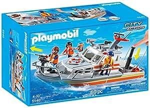 Playmobil - 5540 - Jeu De Construction  - Bateau De Sauvetage