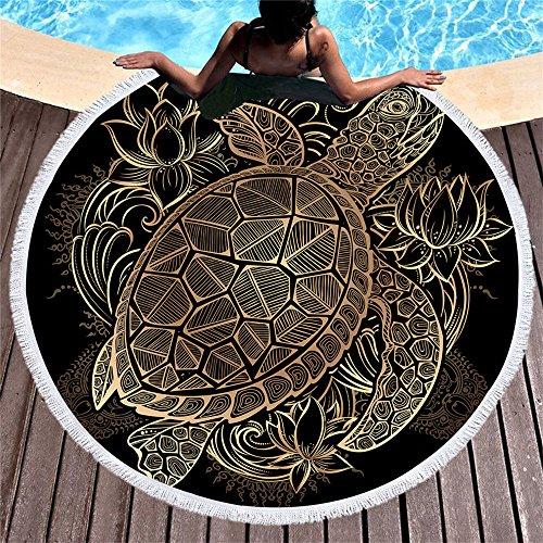 Badetücher Tücher Wraps Kissen Stranddecke Golden Turtle (Für Sonnencreme Clip)