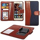 N4U Online® Blue Clip On Dual Fibre Book Wallet Case Cover