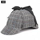 Angleterre Unisexe Sherlock Holmes Chapeau de détective de Deerstalker, Chapeau de griffonnage et de chevrons, Chapeaux de fantaisie Nouveautés