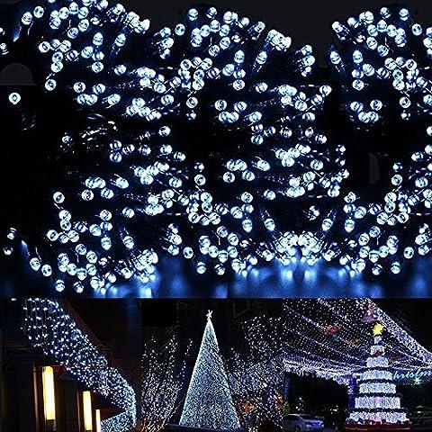 Rubility®12m 100pcs LED impermeabile solare del giardino della decorazione di Natale luci della stringa, Festival (Bianca Leggiadramente Solare Luce)