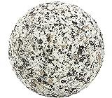 Dehner Edelstahlkugel Serizzo, Ø 10 cm, Edelstahl, grau/marmoriert