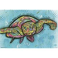 Póster Dean Russo - Turtle Pop Art/Tortuga (91,5cm x 61cm) + 1 paquete de tesa Powerstrips® (20 tiras)