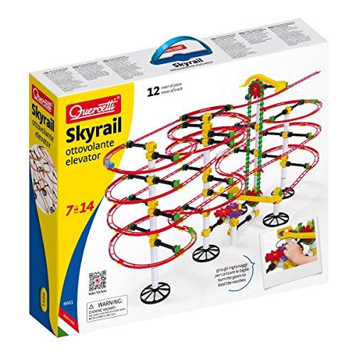 Quercetti Skyrail Kugelbahn Achterbahn Ottovolante 12 Meter mit Aufzug
