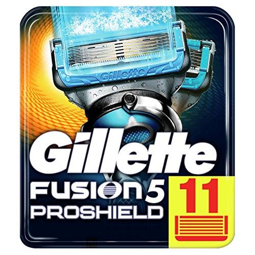 Gillette Fusion5 ProShield Chill Rasierklingen für Männer, 1er Pack (1 x 11 Stück)