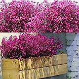 12 Lots Arbustes Artificiels Buissons Fleurs artificielles Résistantes Aux UV d'Extérieur Plantes Fleurs Décoratives pour Arr