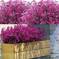 12 Fasci Cespugli di Arbusti Artificiali Artificiali Fiori Piante Resistenti ai Raggi UV Cespugli di Arbusti Decorativi…