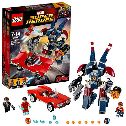 LEGO Marvel Super Heroes 76077 - Iron Man gegen Detroit Steel, Superhelden-Spielzeug - Mech-modell-kit