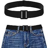 Cintura Donna Elastica Senza Fibbia,Pantaloni dei Jeans Cintura Invisibile Regolabile,Cintura Elastica Senza Fibbia per Uomo
