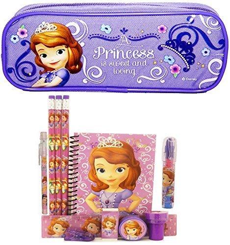Disney Princesa Sofia Estuche con juego de papelería–lavanda