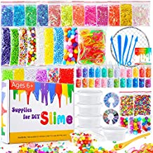 Pllieay 72 Pack Kit de Fabricación de Limo Incluyendo Bolas de Espuma, Tarros de Glitter
