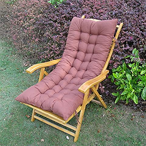 Pause déjeuner à dossier inclinable Coussin de siège coussin de fauteuil à bascule en rotin coussin canapé chaud épais coussin de siège, pliez le coussin de siège 48*120cm,48x120cm coffee