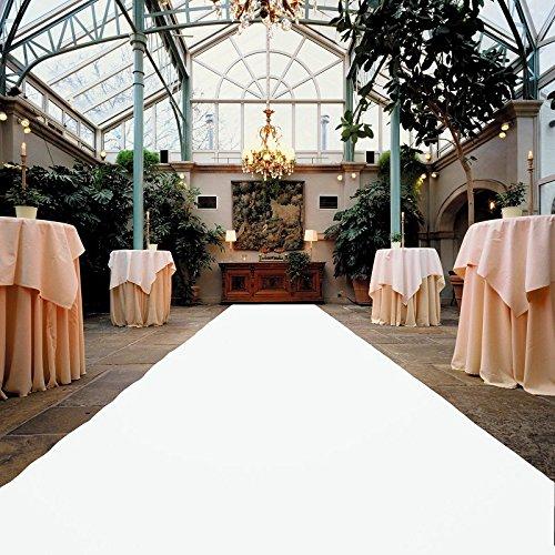 Weißer Teppich - Hochzeitsteppich - VIP Teppich - Eventtepich - Farbe Weiß - 1,00m x 15,00m