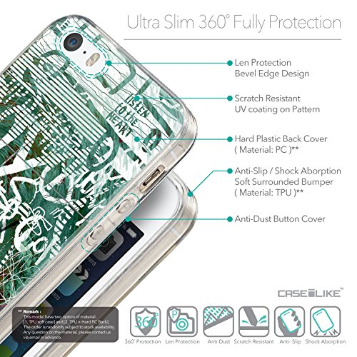 CASEiLIKE Comic Beschriftung 2914 Ultra Slim Back Hart Plastik Stoßstange Hülle Cover for Apple iPhone 5G / 5S +Folie Displayschutzfolie +Eingabestift Touchstift (Zufällige Farbe) 2728