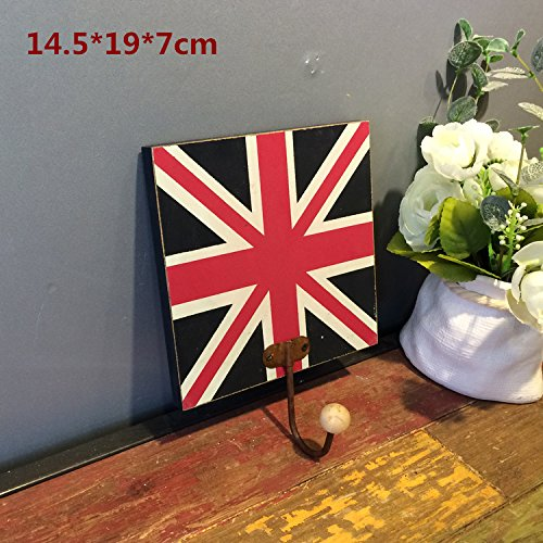 Crochet Mural Vintage Design Decoratif Porte Clés Original unionjack Grande-Bretagne drapeau