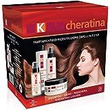 K-Cheratina - Trattamento Professionale Capelli Deboli e Sfibrati - Contiene lo Shampoo Ristrutturante, il Siero ad Azione Ri