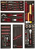 Kraftwerk 4931 104-teilig Werkzeug-Zusammenst./2x3 Sch. EVA3