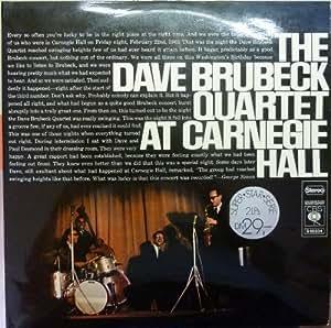 Dave Brubeck live at Carnegie Hall, Vinyl Doppel-LP