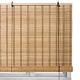 Lola Home Estor Enrollable marrón de bambú de 160x180 cm