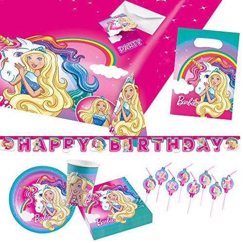 Barbie Arten Von Kostüm - Amscan 9903698 Party Set Dreamtopia
