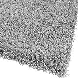 Paco Home Bettumrandung Läufer Shaggy Hochflor Langflor Teppich in Grau Läuferset 3Tlg, Grösse:2mal 70x140 1mal 70x250