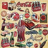 OJVVOP Europa Und Die Us-Retro-Coca-Cola-Aufkleber Koffer Koffer Trolley Box Aufkleber wasserdichte...