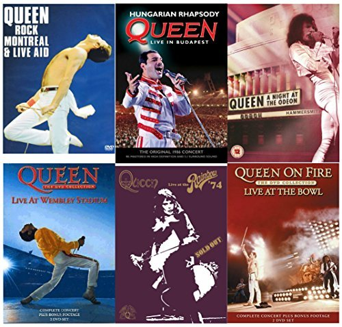 Queen Rock Montreal & Live Aid (Two Disc Set) / Queen: Hungarian Rhapsody - Live In Budapest / Queen: A Night At The Odeon / Queen - The DVD Collection: Live At Wembley Stadium (Two Disc Set) / Live At The Rainbow / Queen: On Fire - Live At The Bowl by Queen (Queen-live In Budapest)