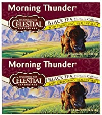 Celestial Seasonings Morning Thunder Tea Bags - 20 ct - 2 Pack