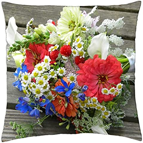 A Bouquet Filled with Summer Cheer - Throw Pillow Cover Case (18
