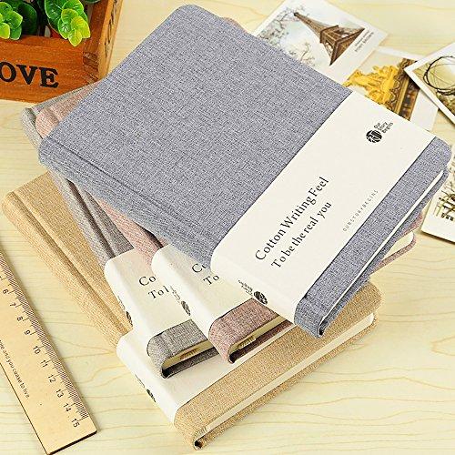 Zhi Jin klassisches Notizbuch mit Hardcover aus dickem Stoff/Leinen, Notizblock, Tagebuch für Reisen, Büro, blanko Linen Blue