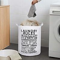 BUCKETLIST® Large Capacity Folding Large Waterproof Cloth Laundry Basket,Laundry Bag,Collapsible Storage Bag with…
