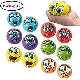 MIMIEYES Emoji Gesicht Squeeze Bälle, Finger Übung / Stress Relief Emotionale Spielzeug (12 Stück)