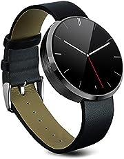 Orologio Sportivo Impermeabile, Sportwatch, Stoga St-DM360 orologio da polso, smartwatch con cinturino, Mini monitor controllo vocale e chiamate vocali per Apple iPhone iPhone 4/4S/5C/5S/6/6s Android Samsung S6/Edge S6/S4/S5/Note3/nota 4 HTC (nero)
