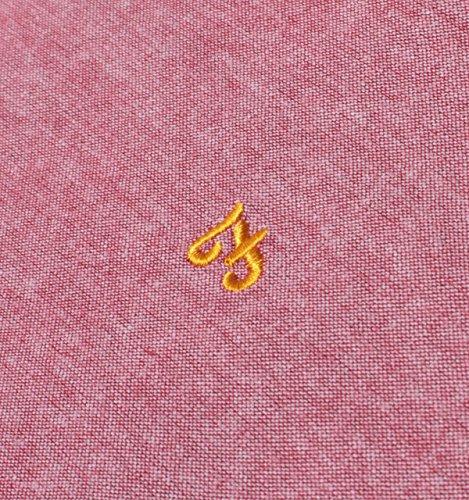Farah Vintage Uomo Logo Shirt Steen Shortsleeved Slim Fit, Rosa Rosa