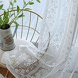 HAOLY Fliegengitter, Wohnzimmer-bildschirme,Weiße gardinen,Semi-gardinen,Für Bay-Fenster Schlafzimmer Wohnzimmer 1pcs-A 350x265cm(138x104inch)