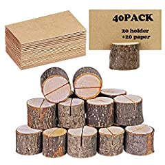 40 Stück Inhaber, Rustikales Echtholz