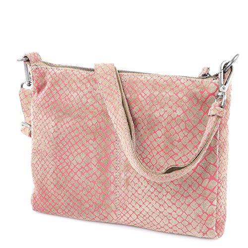 FREDsBRUDER Tasche - Crazy Hypnotic - Pink Pink (Beige / Pink)