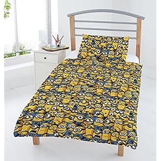 MINIONS Line Art Junior Parure de lit, Polyester/Coton, Multicolore