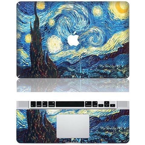 Vati fogli smontabili Albero Pittura protettiva copertura completa di arte del vinile Decal Sticker Cover per Apple MacBook Air 13.3