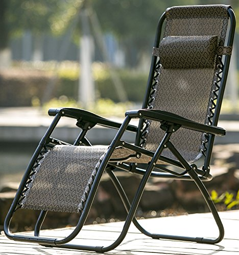 Life Carver zero gravity chair Foldable Adjustable Sun lounger Chair Garden Patio Chair with Pillow Weather Resistant Reclining Armrest Camping Relax Chair...