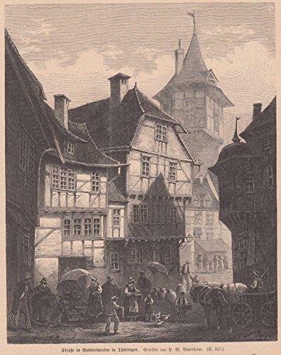 Waltershausen/Thüringen - Die Stadt in der Johannes Daniel Kestner sen. 1815 die Cervelatwurst erfunden hat. Straße in Waltershausen. [Grafik]