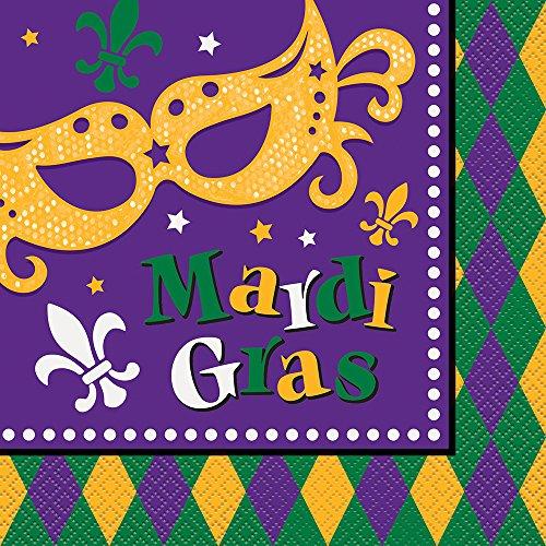 Masquerade Mardi Gras Party Napkins, 16ct