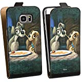 Samsung Galaxy S7 Edge Tasche Hülle Flip Case Disney Susi & Strolch Fanartikel Merchandise