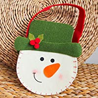 VHVCX Bags Felt Cloth Bags Portable Apple Christmas Decorations In Kindergarten Children Gifts Cute Snowman Gift Bags Of Money