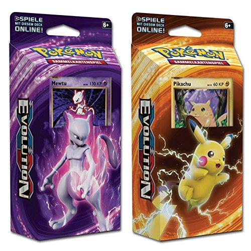 Pokemon XY12 - Evolution - Themendecks - Pikachu/Mewtu - Deutsch (Pikschu & Mewtu)