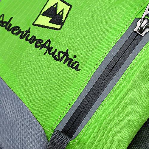 Marsupio Blu Super Leggero Sport Outdoor AdventureAustria. Marsupio e Borsa Resistente all'Acqua Cintura Adatta per Fitness Ciclismo Jogging Escursioni Palestra Viaggi ecc. le per Trasportare Denaro C Verde