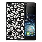 WoowCase Elephone S2 Hülle, Handyhülle Silikon für [ Elephone S2 ] Schädel mit Herzen Handytasche Handy Cover Case Schutzhülle Flexible TPU - Schwarz